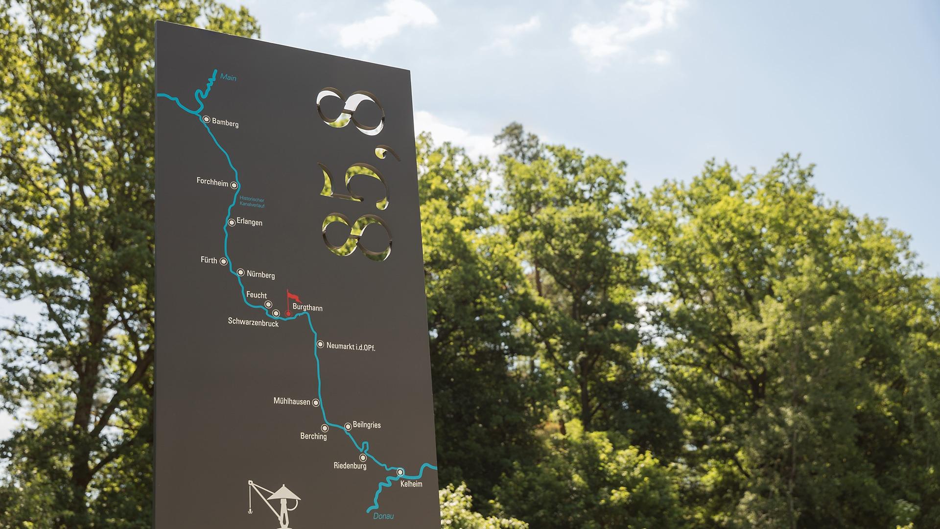 Informationssystem am Ludwig-Donau-Main-Kanal