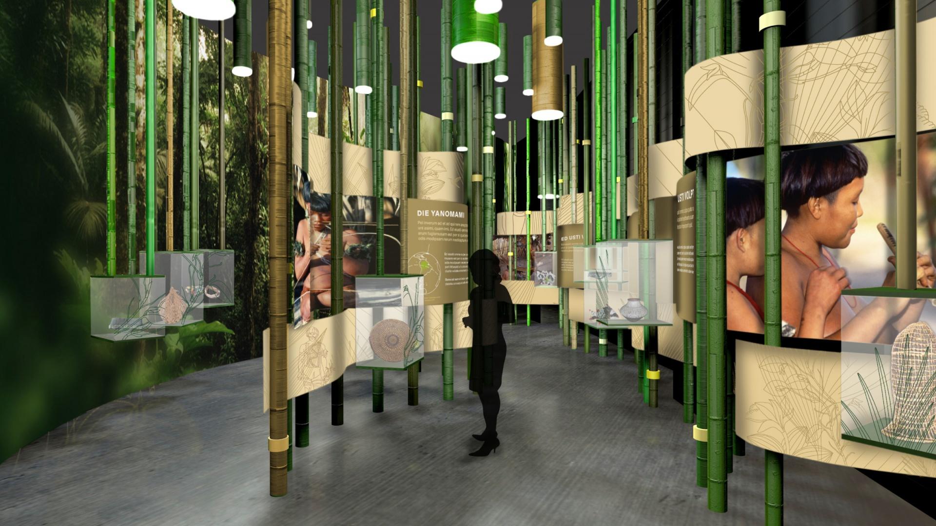 Leitsystem »Regenwald – eine Weltreise«