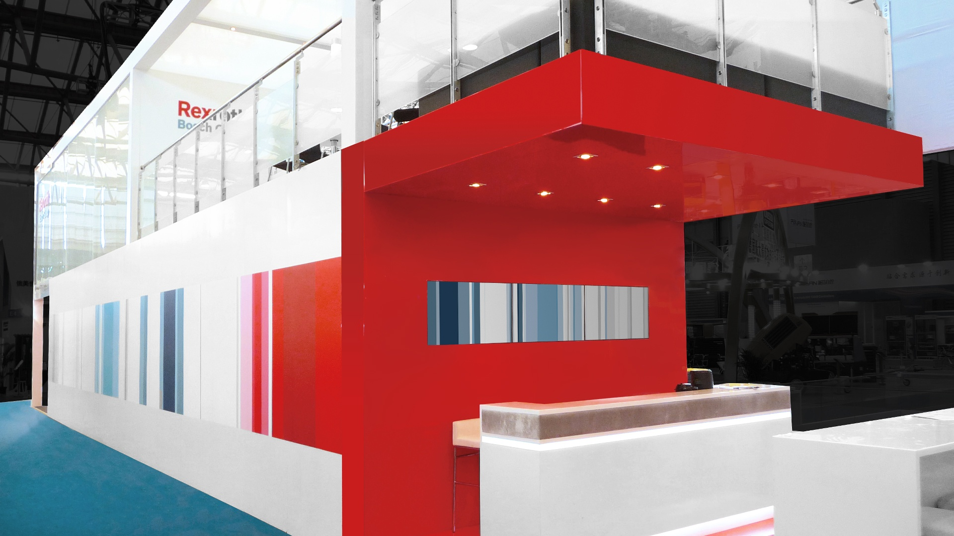 Architektur Bosch Rexroth Messe bauma Shanghai
