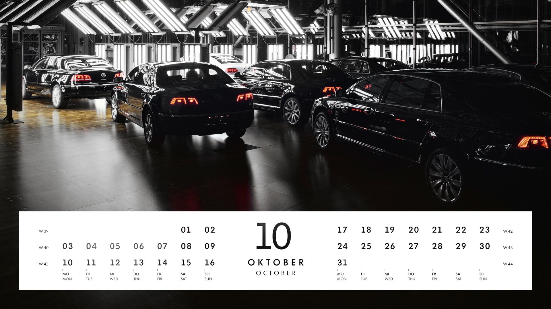 Fotografie und Typografie Gläserne Manufaktur Kalender VW
