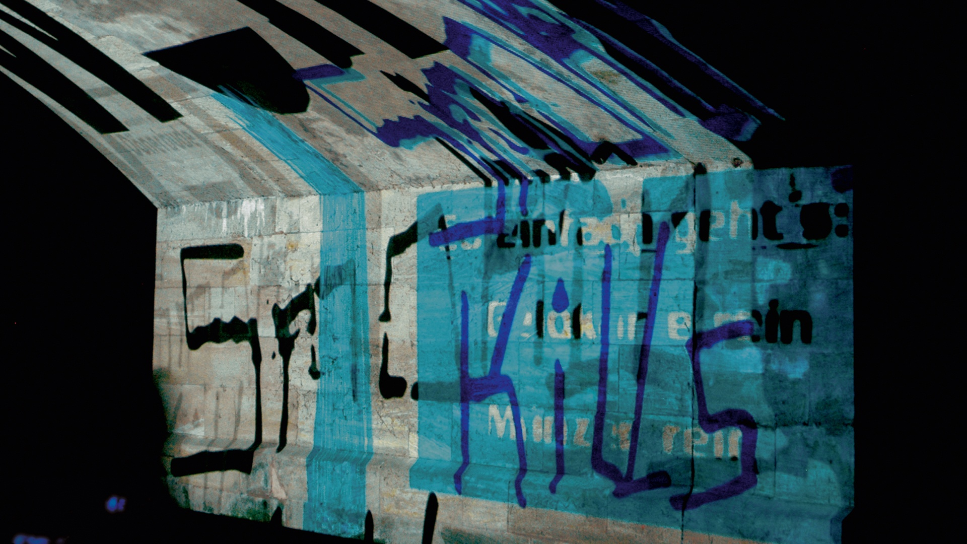 Projektion Blaue Nacht