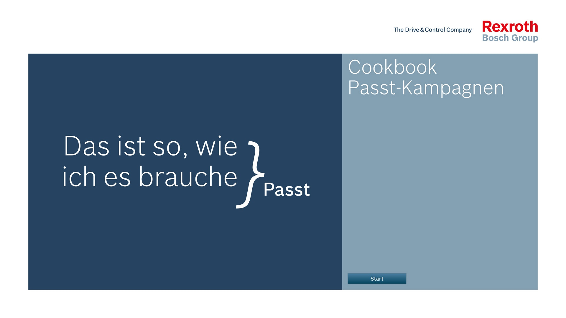 Corporate Design Passt Kampagne Bosch Rexroth