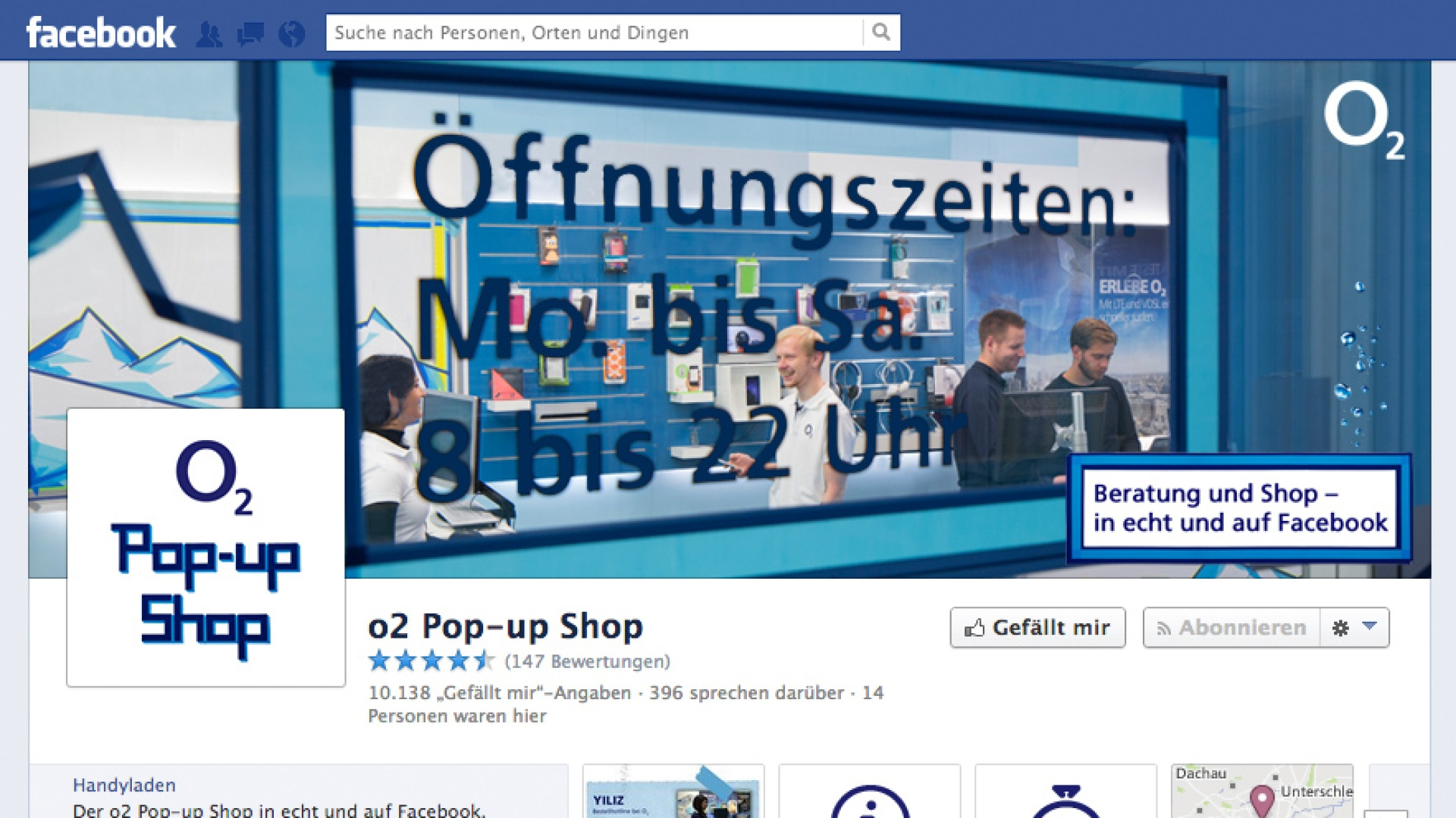 o2 Pop-up Shop digital und live
