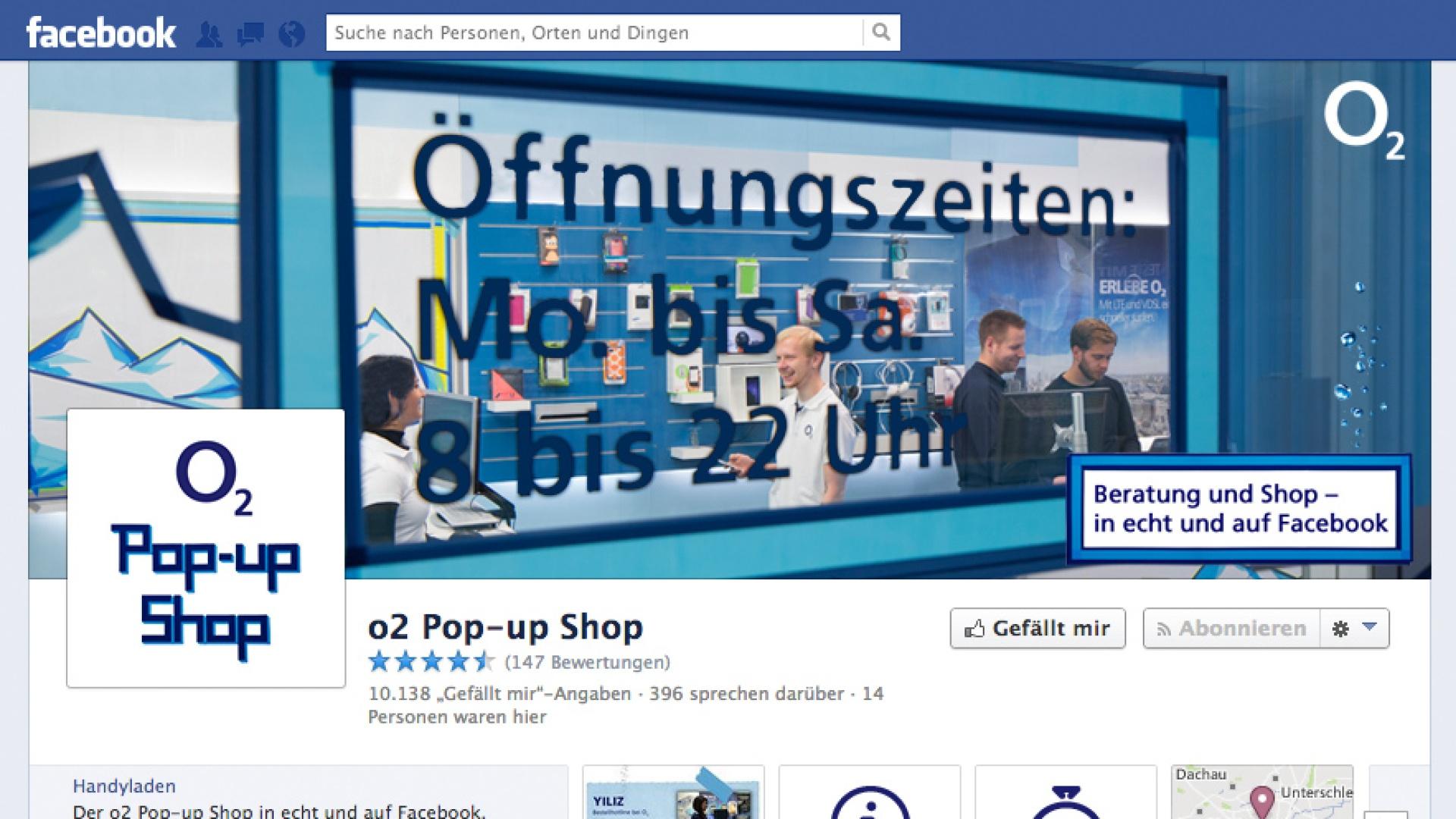 o2 Pop-up Shop digital und live
